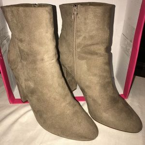 Women's Booties, size 11, taupe color